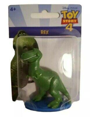 "Disney Toy Story 4 Rex 2"" Mini Figure Cake Topper Figurine Mattel T-Rex"