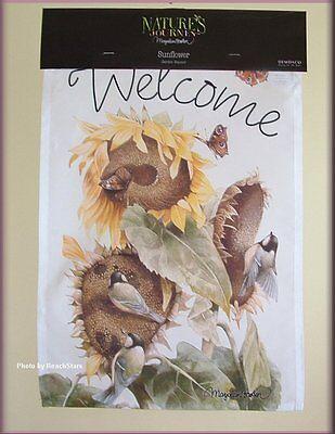 Sunflower Garden Flag Welcome Banner Marjolein Bastin Natures Journey Free Ship
