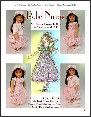 """Robe Nuage"" Original Fashion Pattern for American Girl Dolls - Maryellen 1950s"