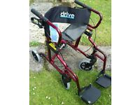New compact Drive Diamond Wheelchair/Rollator .Labelled