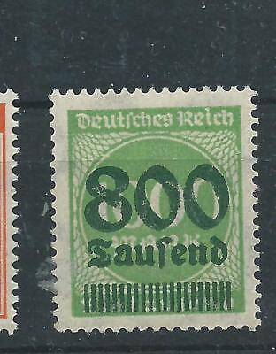 DEUTSCHES REICH 1923 ZIFFER IM KREIS POSTFRISCH MI NR 308A 800 TSD AUF 1000 M