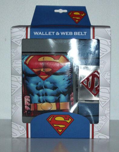 SUPERMAN BIFOLD WALLET & WEB BELT BOYS