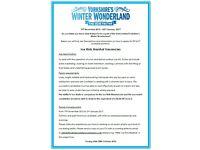 Yorkshire's Winter Wonderland needs you!