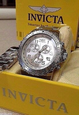 Invicta Men's 6620 II Collection Chronograph Stainless Steel Silver Dial Watch.