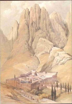 (m40) Monastery of St. Catherine With Mt. Horeb