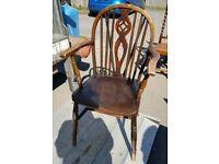 Victorian elm stick back chair