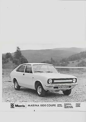 B. LEYLAND MORRIS MARINA 1800 COUPE SUPER DELUXE PRESS PHOTO brochure related