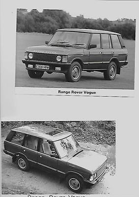 RANGE ROVER VOGUE  PRESS PHOTO 'BROCHURE RELATED' TWO OF