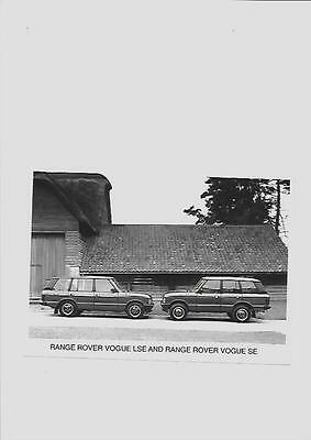 RANGE ROVER VOGUE LSE AND VOGUE SE MODELS  PRESS PHOTO 'BROCHURE RELATED'