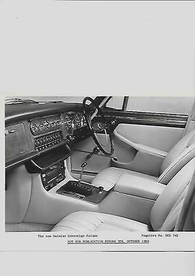 DAIMLER SOVEREIGN SALOON INTERIOR PRESS PHOTO 'BROCHURE CONNECTED 'OCTOBER 1969