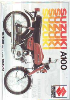 SUZUKI MOTORCYCLE SALES BROCHURES LAMINATED