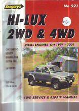 TOYOTA HI-LUX    WORKSHOP SERVICE MANUAL diesel 10******2001 Sefton Bankstown Area Preview