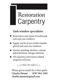 Carpentry and joinery, restoration and design.