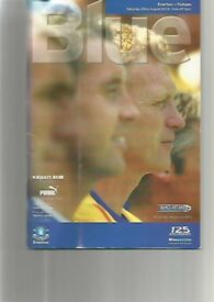 FOOTBALL PROGRAMME - EVERTON v FULHAM FROM 2003