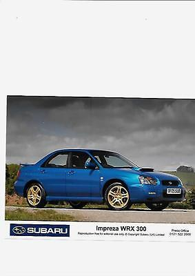 "SUBARU IMPREZA  WRX 300 '05 ORIGINAL PRESS PHOTO ""Brochure related """