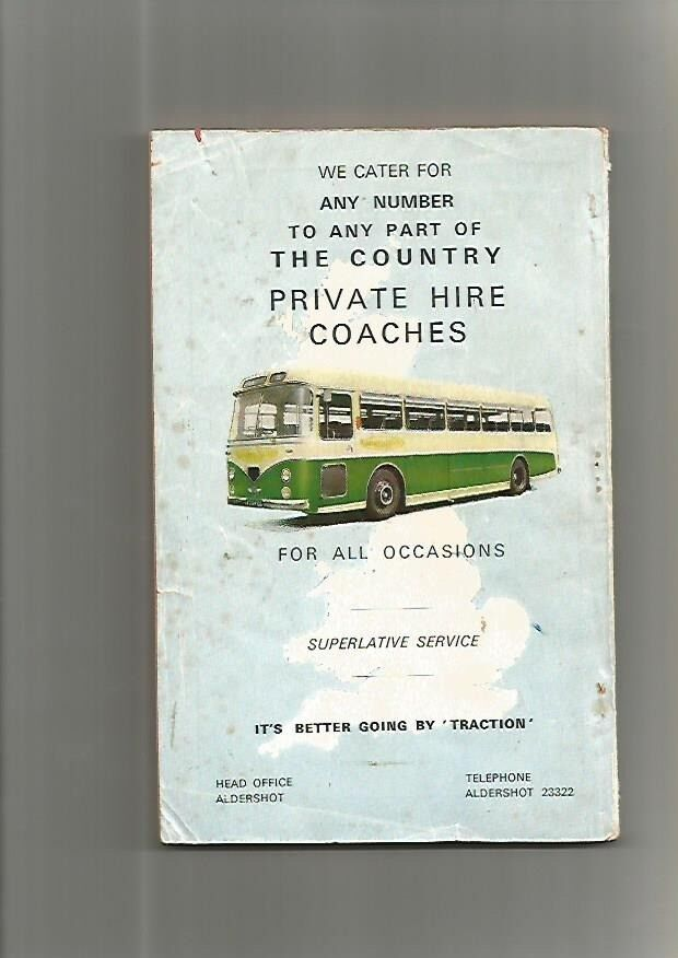 Aldershot And District Bus Timetables Book From 1966 In Warrington