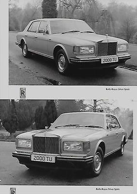 ROLLS ROYCE SILVER SPIRIT PRESS PHOTO 'brochure related'  4 OF