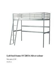 IKEA Single Loft frame bed (SVARTA)
