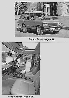 RANGE ROVER VOGUE SE MODEL  PRESS PHOTO 'BROCHURE RELATED' 2 OF