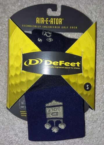 """DeFeet Aireator Golf Blue Ankle Socks 3"""" size S Small Women"""