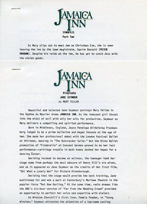 JANE SEYMOUR JAMAICA INN RARE ORIGINAL 1983 TV PRESS MATERIAL