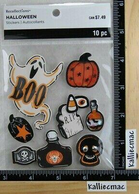 Halloween Eye Stickers (Recollections HALLOWEEN Stickers BOO PUMPIN SHAKER SKULL RIP POISIN BOTTLE)