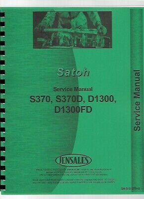 Satoh Beaver S370 S370d Tractor Service Repair Manual