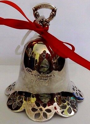 TOWLE 2004 SILVER PLATE BELL CHRISTMAS ORNAMENT