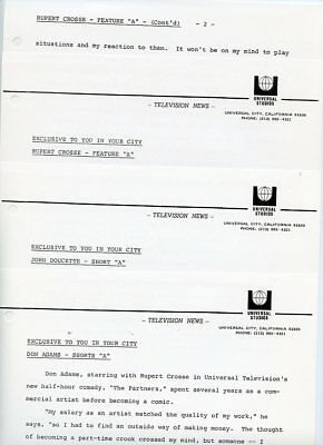 Don Adams Rupert Crosse The Partners Rare Original 1971 Nbc Tv Press Material