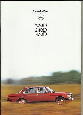 MERCEDES BENZ 200 D 240 D AND 300 D SALES BROCHURE 1978 1979 ('T'  REG. CARS)