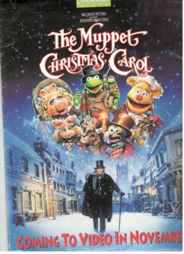 JIM HENSON VIDEO THE MUPPET CHRISTMAS CAROL PRESS KIT PHOTO MICHAEL CAINE FROG
