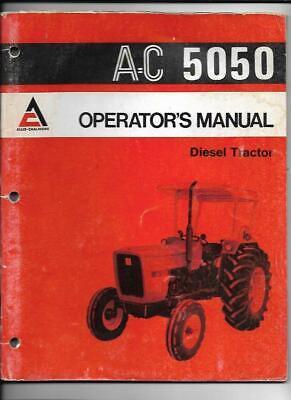 Allis-chalmers 5050 Diesel Tractor Operators Manual