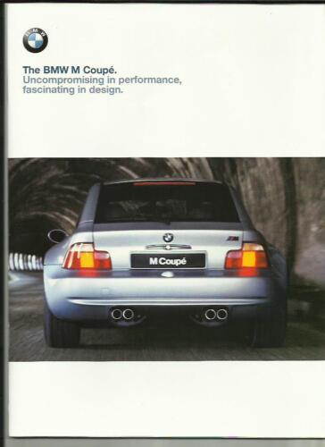 BMW M COUPE  E36 SALES BROCHURE LATE 1998 FOR 1999 MODLE YEAR