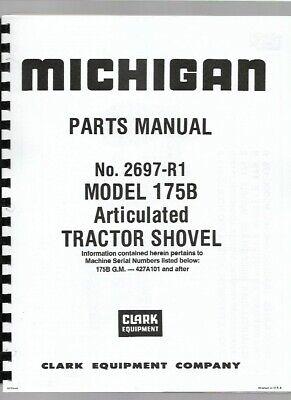 Michigan 175b Wheel Loader Parts Manual Catalog