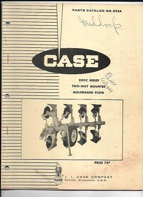 Case 200c Series Two-way Mounted Moldboard Plow Parts Catalog No. B934