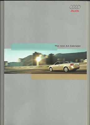 AUDI 4 CABRIOLET 2.4 AND 3.0 SALES BROCHURE 2002
