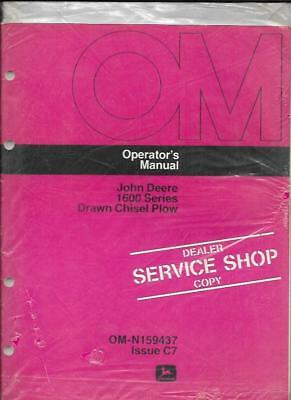 John Deere 1600 Series Drawn Chisel Plow Operators Manual Om-n159437 Issue C7