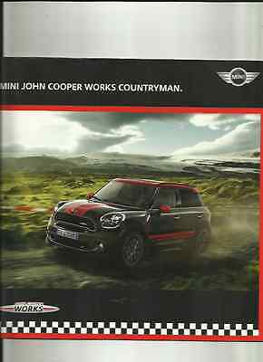MINI JOHN COOPER WORKS COUNTRYMAN SALES BROCHURE 2012