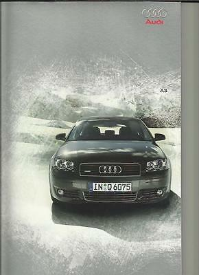AUDI A3 1.6, 2.0 FSI & 2.0  SALES BROCHURE + COLOURS & SPECIFICATIONS MARCH 2003