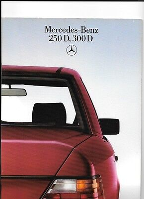 MERCEDES BENZ  250 D AND 300 D  SALES BROCHURE AUGUST 1985 FOR 1986