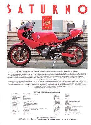 Gilera Saturno UK sales brochure