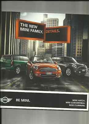 MINI HATCH,CONVERTIBLE AND CLUBMAN 'DETAILS' SALES BROCHURE SEPT.  2010 FOR 2011