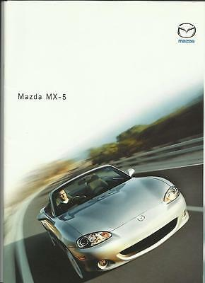 MAZDA MX-5 SALES BROCHURE MAY  2002