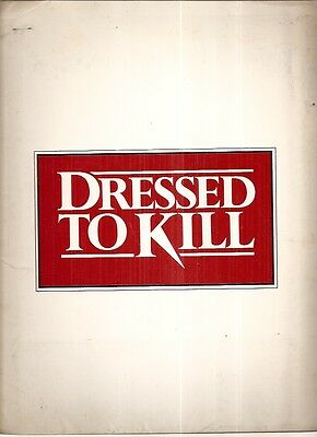 Original Dressed to Kill Movie Press Kit Filmways Studios 1980 Michael Caine