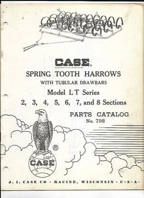 Case Spring Tooth Harrows With Tubular Drawbars Model L T Series Parts Catalog