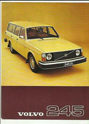 VOLVO 245  CAR 'SALES BROCHURE'/SHEET 1977