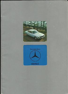 MERCEDES BENZ 450 SLC  SALES BROCHURE JANUARY 1977