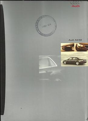 AUDI A8 2.8, A8 3.7, A8 4.2 QUATTRO AND S8 PORTFOLIO SALES BROCHURE JANUARY 1997