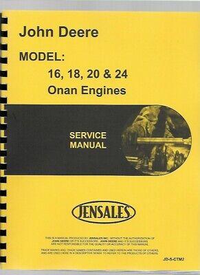 John Deere Onan 316 318 420 Lawn Tractor Engine Service Manual Ctm2