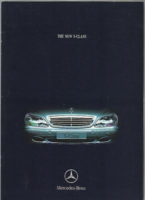 MERCEDES BENZ S CLASS S 320 V6, S 430 V8 AND S500 V8 SALES BROCHURE JULY 1998